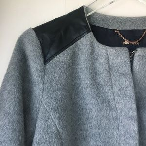 ELLA MOSS Gray and Black Textured Boucle Jacket S